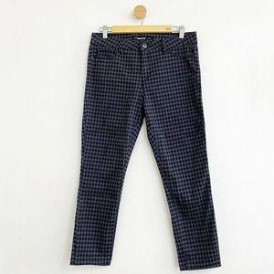 Jordache Houndstooth Print Black Gray Skinny Jeans